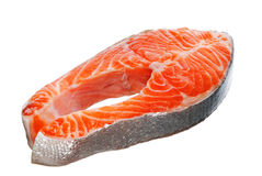 新鲜的鲑鱼排 库存照片