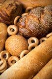新鲜的鲜美面包店静物画 免版税库存照片