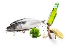 新鲜的鲭鱼香料 免版税库存图片