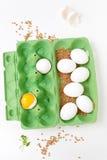 新鲜的鸡蛋 图库摄影