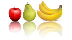 新鲜的水多的成熟果子庭院 库存例证