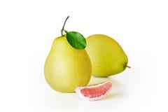 新鲜的水多的柚果子 库存图片