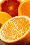新鲜的水多的桔子细节  库存图片