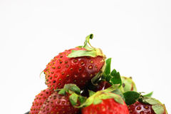 新鲜的水多的草莓维生素 图库摄影