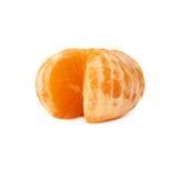 新鲜的水多的蜜桔果子被隔绝在白色背景 免版税库存照片