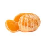 新鲜的水多的蜜桔果子被隔绝在白色背景 库存照片