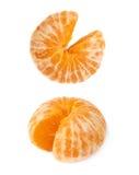 新鲜的水多的蜜桔果子被隔绝在白色背景 免版税库存图片