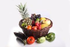 新鲜的水果和蔬菜健康的 免版税库存照片