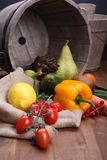 新鲜的水果和蔬菜健康的 图库摄影