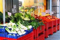 新鲜的水果和蔬菜市场 免版税图库摄影