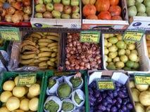 新鲜的水果和蔬菜干尼亚州克利特希腊 免版税库存图片