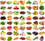 新鲜的水果和蔬菜的汇集 库存图片