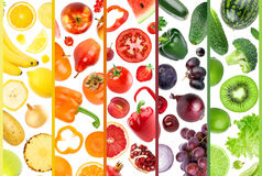 新鲜的水果和蔬菜 免版税库存照片