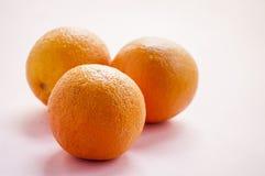 新鲜的黄色桔子 免版税库存图片