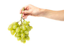 新鲜的绿色葡萄 库存图片