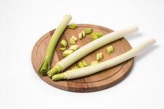 新鲜的绿色韭葱 免版税库存图片