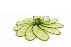 新鲜的绿色黄瓜 免版税库存照片