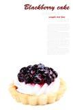 新鲜的黑莓蛋糕 免版税库存照片