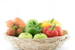 新鲜的组蔬菜 免版税库存照片