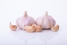 新鲜的garlics 免版税库存照片