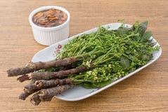 新鲜的Neem泰国食物用甜调味汁 库存照片