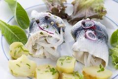 新鲜的Rollmop鲱鱼 免版税库存图片