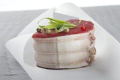 新鲜的tournedos牛肉 免版税库存照片
