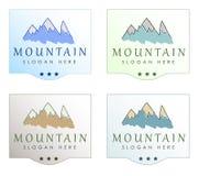 新鲜空气和水商标设计 库存图片
