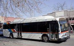新鲜空气城市公共汽车 免版税库存照片