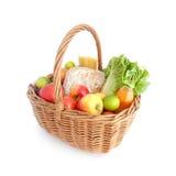 新鲜篮子的食物 免版税图库摄影