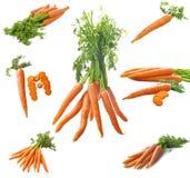 新鲜红萝卜的拼贴画 免版税图库摄影