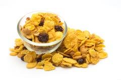 新鲜自创蜂蜜焦糖玉米片 库存图片