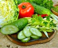 新鲜蔬菜关闭 库存图片