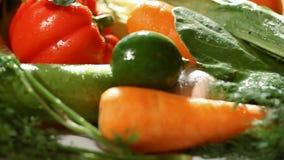 新鲜蔬菜在市场上 影视素材