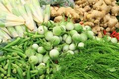 新鲜蔬菜在市场,亚洲,泰国上 库存图片