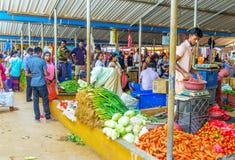 新鲜蔬菜在Wellawaya市场上 库存图片