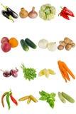 新鲜蔬菜孤立 免版税库存照片