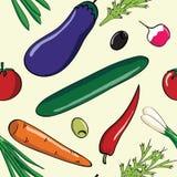 新鲜蔬菜样式 免版税库存图片