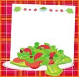 新鲜蔬菜沙拉卡片 库存图片