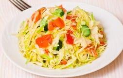 新鲜蔬菜沙拉用圆白菜 库存照片