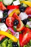 新鲜蔬菜沙拉(希腊沙拉) 免版税库存图片