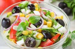 新鲜蔬菜沙拉 库存图片