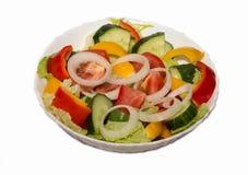 新鲜蔬菜沙拉 免版税库存照片