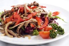 新鲜蔬菜用肉 免版税库存照片