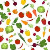 新鲜蔬菜的无缝的样式 免版税库存图片