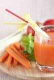 从新鲜蔬菜的汁液 图库摄影