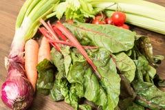 新鲜蔬菜的混合 库存图片