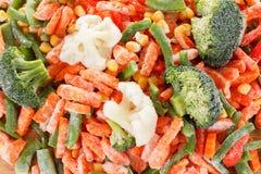 冻新鲜蔬菜的背景汇集 免版税库存照片