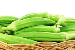 新鲜蔬菜秋葵 免版税图库摄影