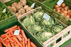 新鲜蔬菜ar市场 免版税库存图片